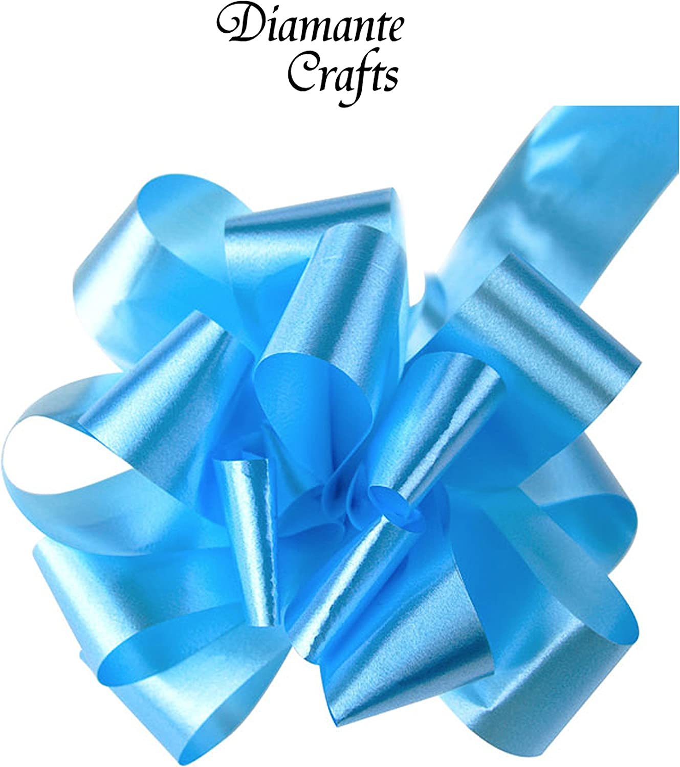 Large Wedding Car Gift Wrap Decoration Floristry 26 Colours 50 x 50mm Pull Bows Baby Blue x 50