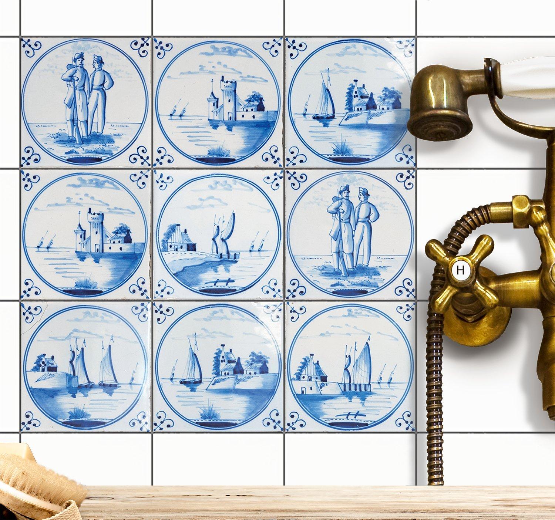 Fliesensticker Mosaikfliesen für Küche u. Bad Deko | Selbstklebende ...