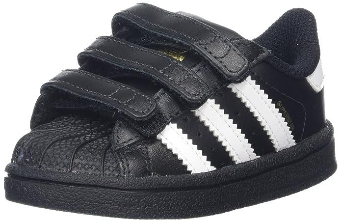 adidas Superstar Sneakers Baby Schuhe Unisex Schwarz mit weißen Streifen