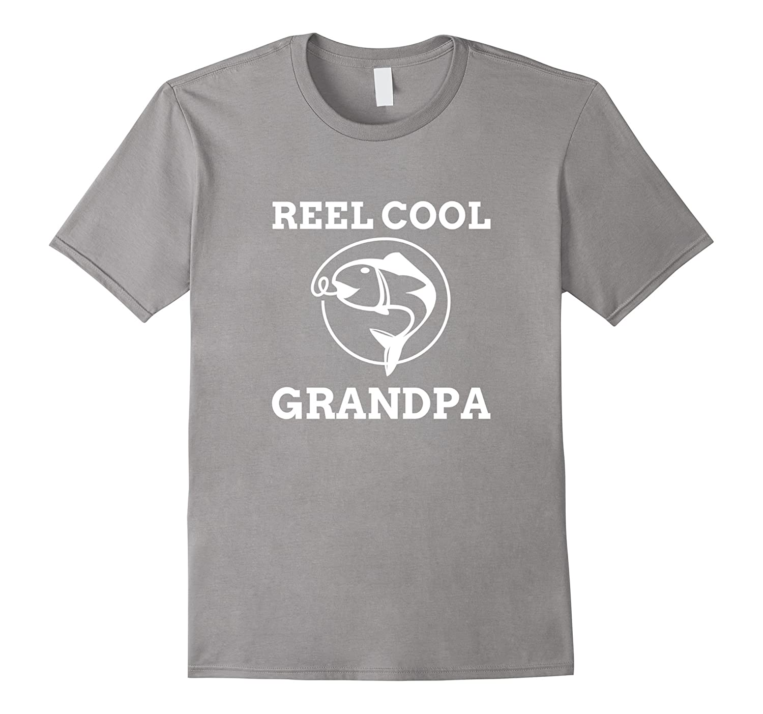 Men's REEL COOL GRANDPA Fishing T Shirt for Fisherman Grandfather