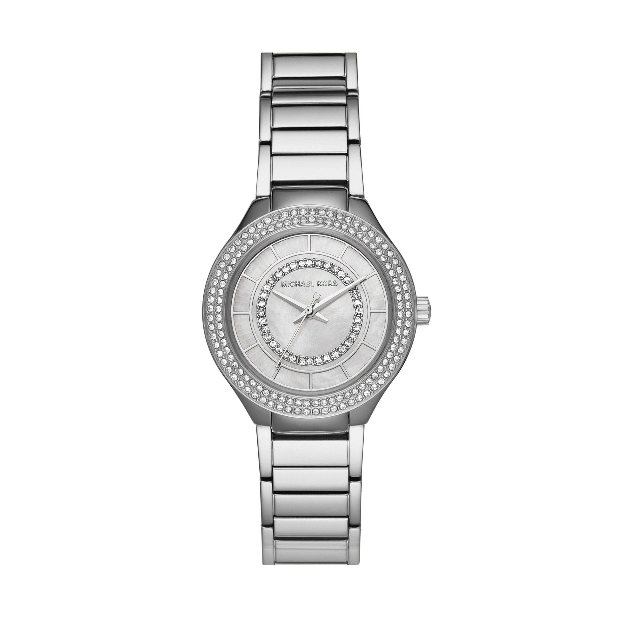 Michael Kors Women's 'Mini Kerry' Quartz Stainless Steel Casual Watch, Color:Silver-Toned (Model: MK3800)