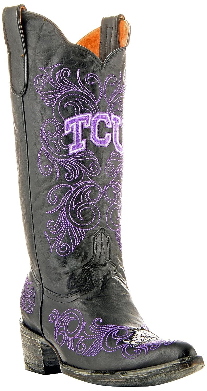 NCAA TCU Horned Frogsレディース13インチGamedayブーツ B00A8O674G 8.5 B (M) US|ブラック ブラック 8.5 B (M) US
