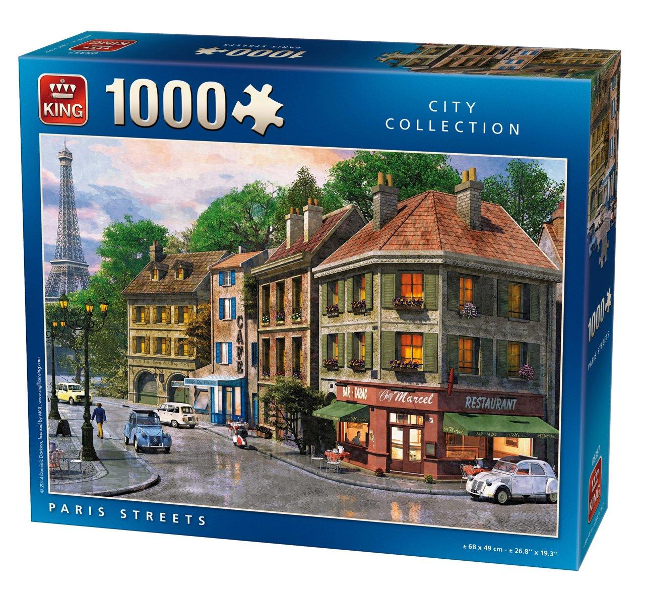 King City Collection Paris Streets 1000 pcs 1000pieza(s) - Rompecabezas (Jigsaw puzzle, Ciudad, Adultos, MGL, Hombre/Mujer, 8 año(s)): Amazon.es: Juguetes y ...