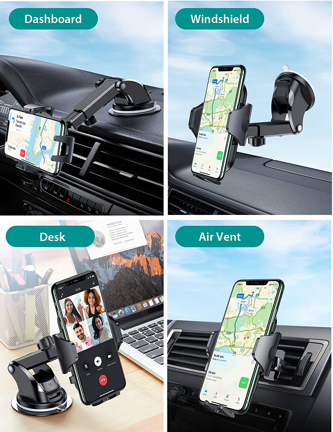 types of phone mount for toyota prius