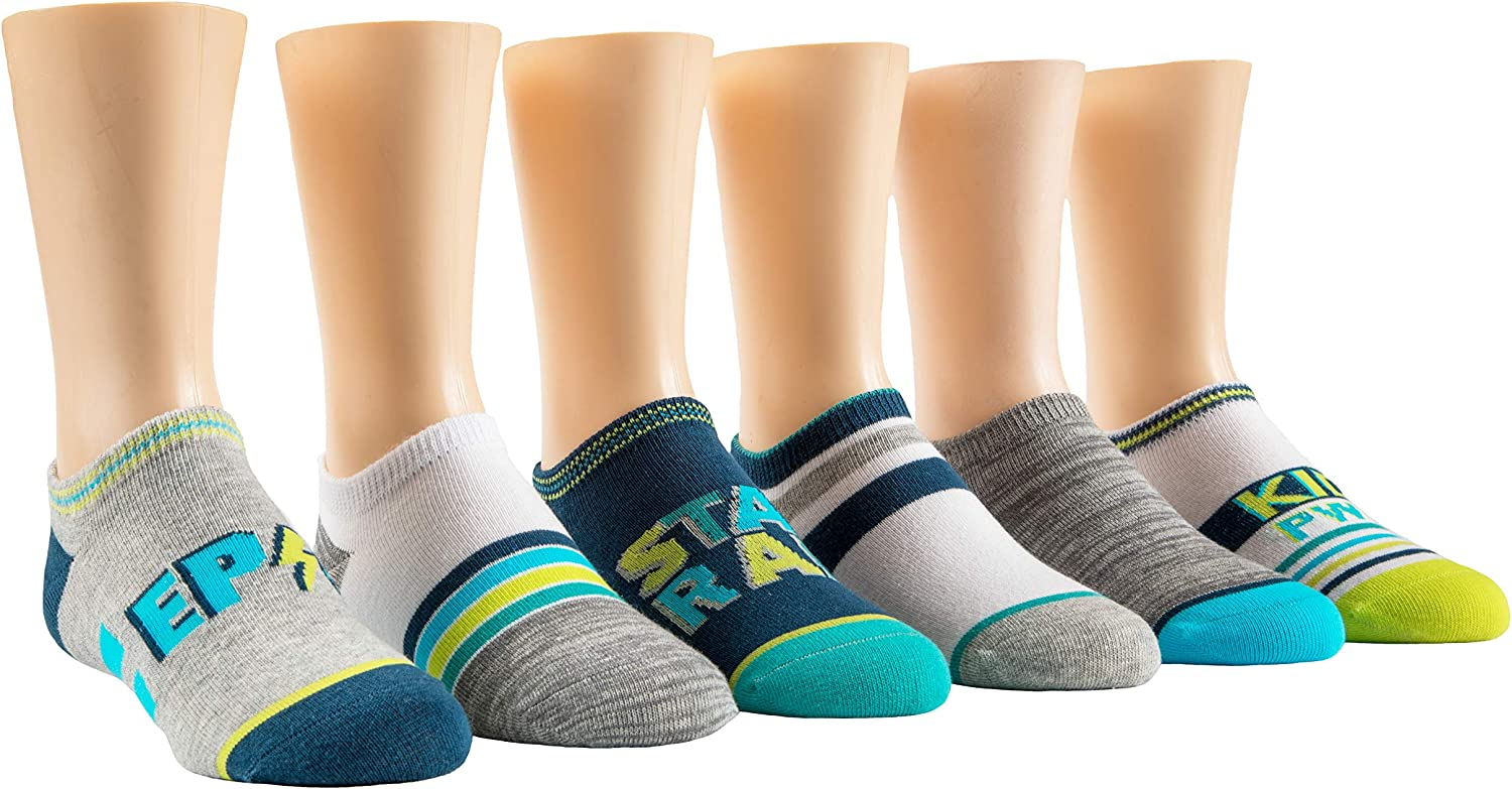 Stride Rite Boys 6-Pack No Show Socks