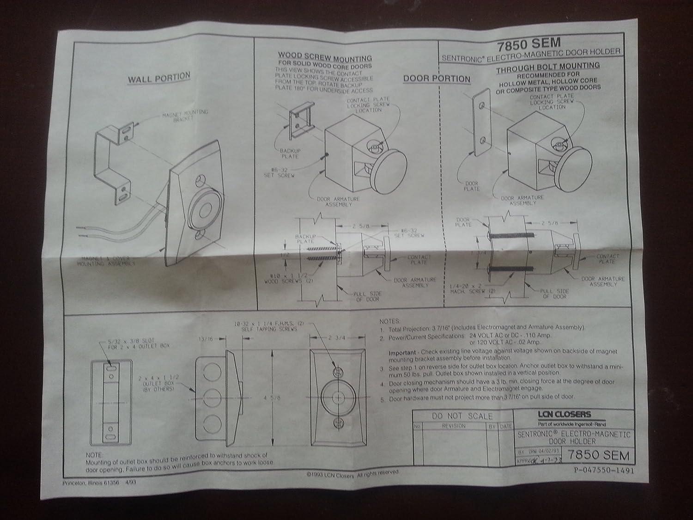 Die Cast Metal LCN 7850 SEM Electromagnetic Door Holder