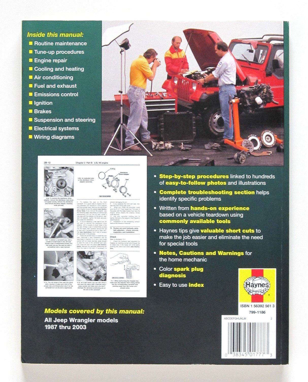 Haynes Jeep Wranglar (87-17) Manual (50030): aa ... on 2004 jeep wrangler diagram, 1988 jeep grand wagoneer wiring diagram, 1987 jeep wrangler fuel tank, 93 jeep yj wiring diagram, 1996 jeep grand cherokee wiring diagram, 1990 jeep wrangler diagram, 1984 jeep cherokee wiring diagram, 2005 jeep grand cherokee wiring diagram, 1987 chrysler conquest wiring diagram, 1986 jeep comanche wiring diagram, 1999 jeep grand cherokee wiring diagram, 1993 jeep grand cherokee wiring diagram, 1987 ford e150 wiring diagram, 2002 jeep grand cherokee wiring diagram, 1987 jeep wrangler automatic transmission, 1987 toyota supra wiring diagram, 1987 jaguar xj6 wiring diagram, 1987 dodge ram 50 wiring diagram, 1987 ford e350 wiring diagram, 1997 jeep grand cherokee wiring diagram,