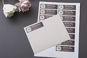 Custom Return Address Label, Address Label, Address Sticker, Address Label Stickers, Monogrammed Address Labels, Floral Self Adhesive Label