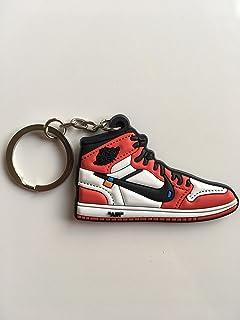 3053d89a091e4d Jordan Retro 1 OG X Off-White Chicago Sneaker Keychain Shoes Keyring AJ 23