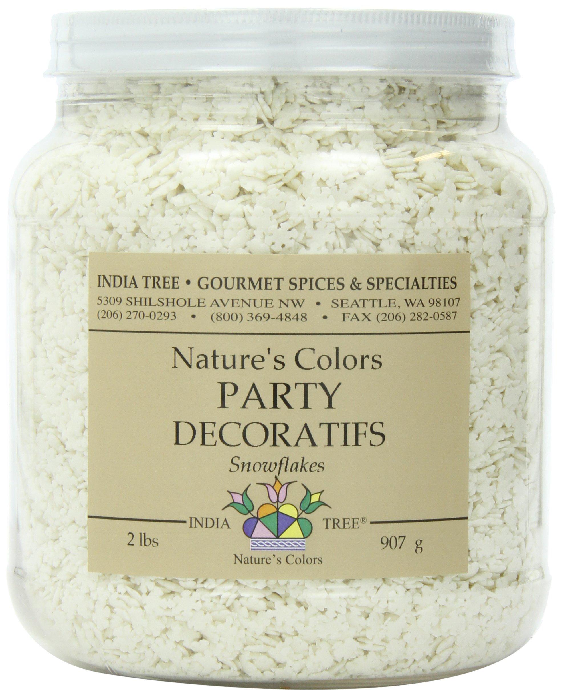 India Tree Nature's Colors Snowflakes Party Decoratifs, 32 oz