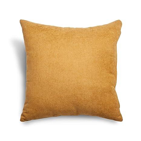 SuenosZzz- COJIN Relleno. Cojines Decoracion, Sofa,Cama, tapizado Acualine Antimanchas Mostaza. Medidas: 48x48. Decoracion CASA.