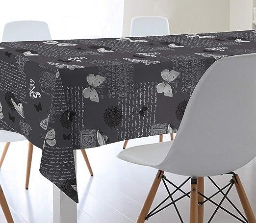 Mantel de Hule 100% PVC con Base de algodón. Estampado Mariposas ...