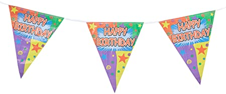 Beistle 57718 Feliz cumpleaños Guirnalda DE, 25,4 cm por 12 ...
