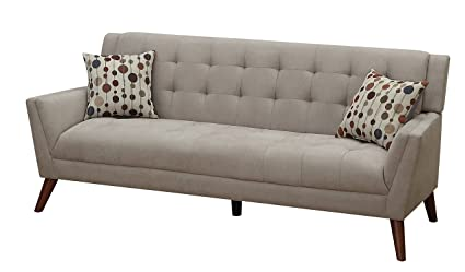 Furniture World Mid Century Sofa, Oatmeal
