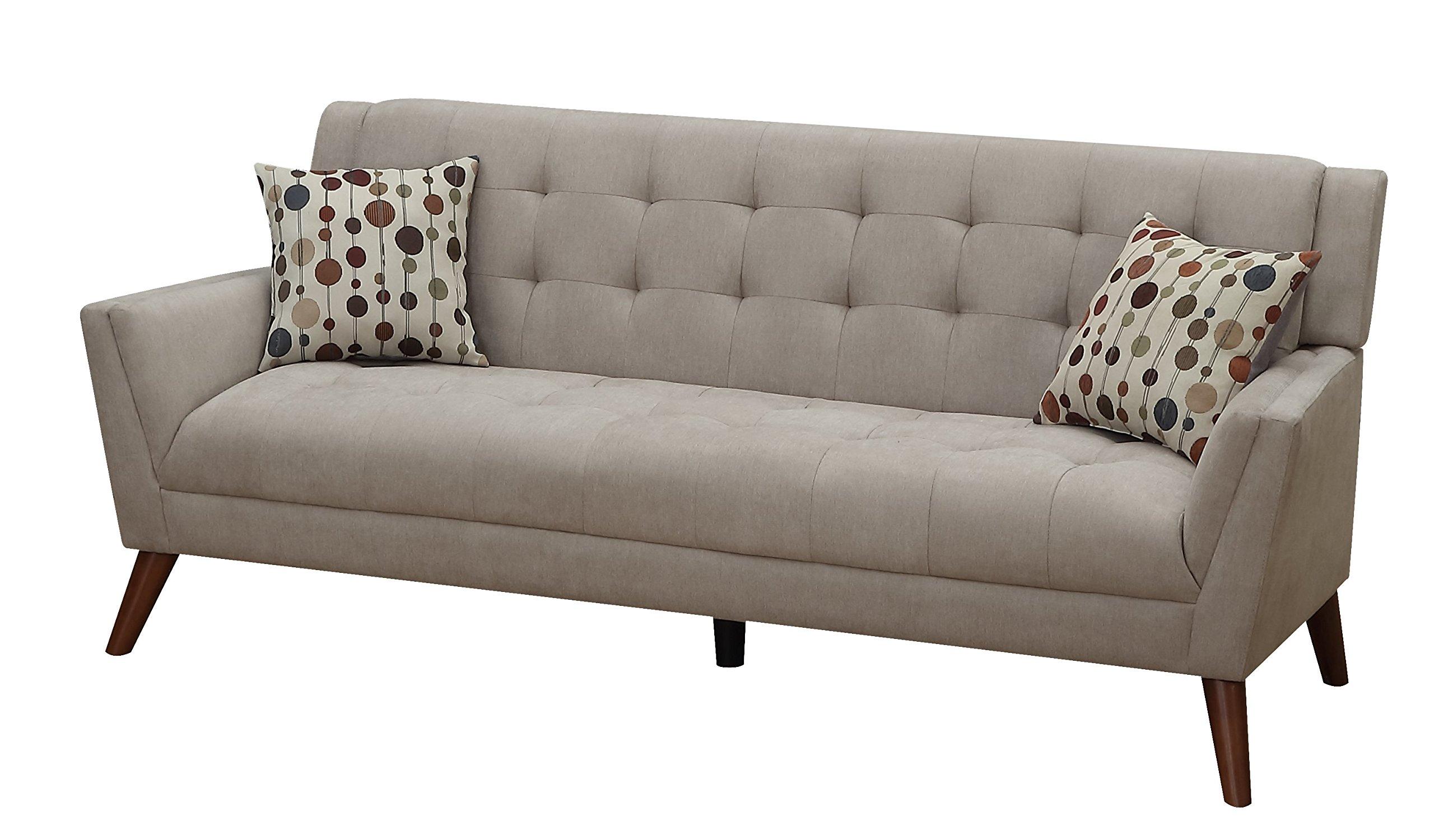 Furniture World Mid Century Sofa, Oatmeal