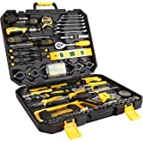 DEKO 168 Piece Tool Set for Auto Repair, General Household with Wrench and Plastic ToolBox