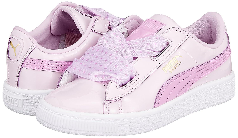 Amazon.com   PUMA Girls Basket Heart Star Trainers 12.5 Child Pink   Running