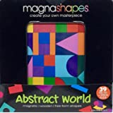 Magnashapes Magnetic Shape Free-Form Puzzle Bundle- (Set of 3) Abstract World, Spinning Circles, and Square Rooms