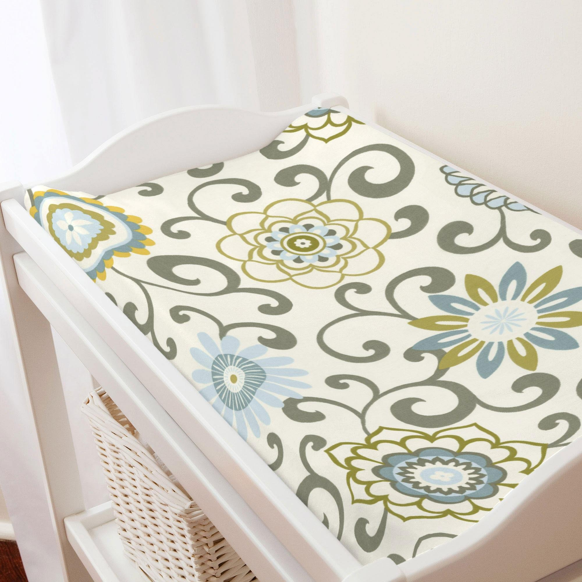 Carousel Designs Spa Pom Pon Play Changing Pad Cover