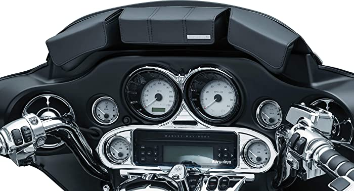 Kuryakyn 5212 Batwing Fairing Storage Pouch Bag with Magnetic Closures for 1996-2013 Harley-Davidson Touring and Trike Motorcycles, Black