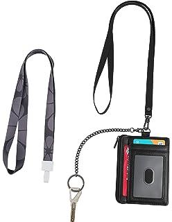 Amazon.com: RFID - Cartera de piel con doble ventana para ...