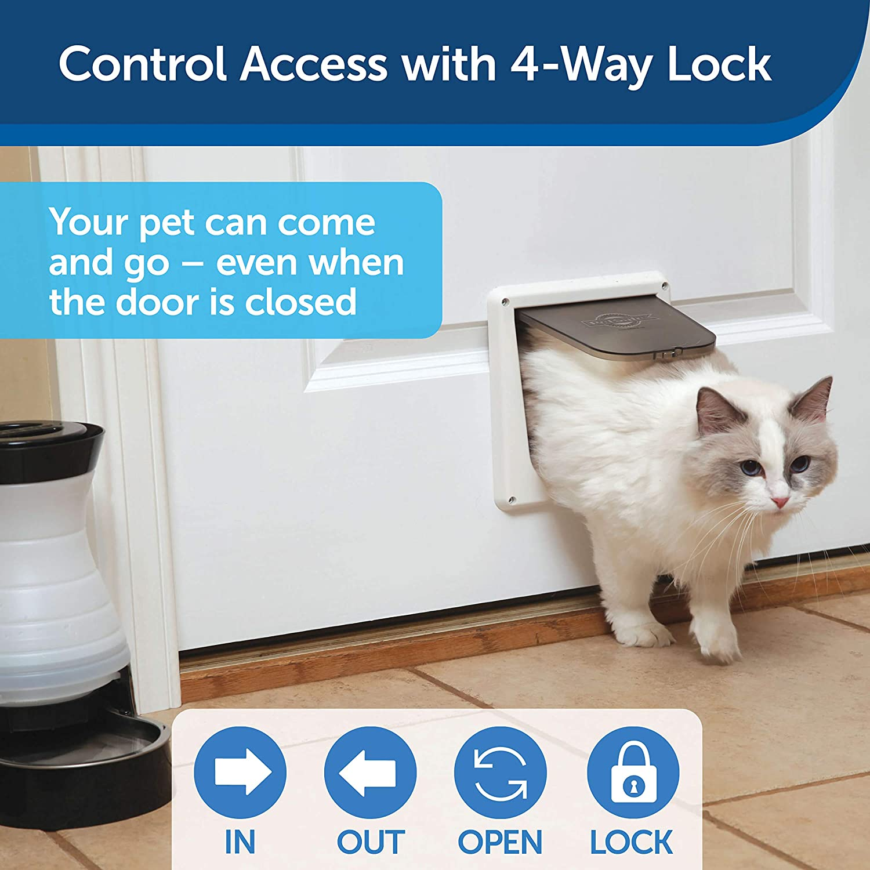 PetSafe Interior 2-Way Locking Cat Door - Indoor Pet Flap - Hides Litterbox or Food - DIY Installation : Pet Doors : Pet Supplies