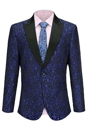 6ce06c8a268 Image Unavailable. Image not available for. Color  FISOUL Mens Suit Floral Party  Dress Suit Stylish Dinner Tuxedo Jacket Wedding Blazer