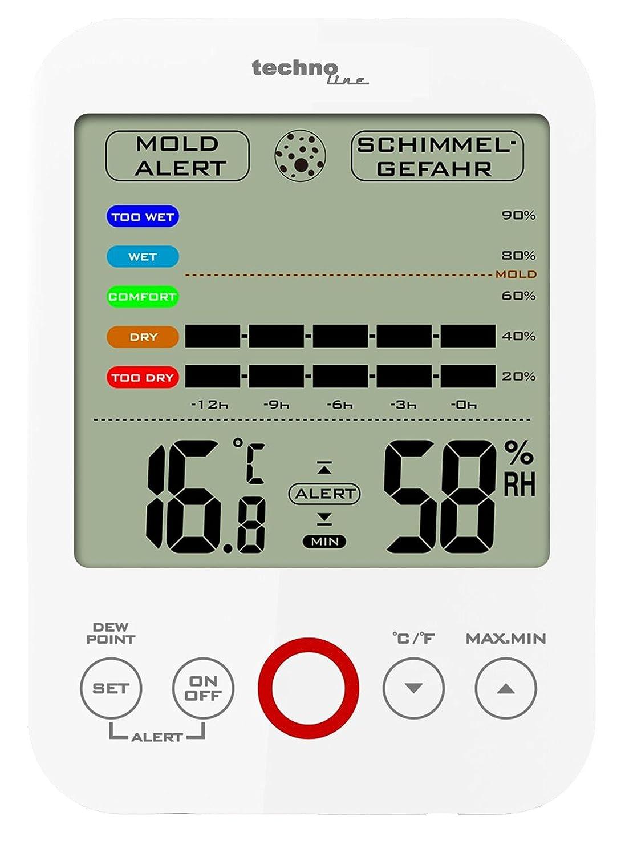 technoline WS 7006 Weather Station - Black Technotrade