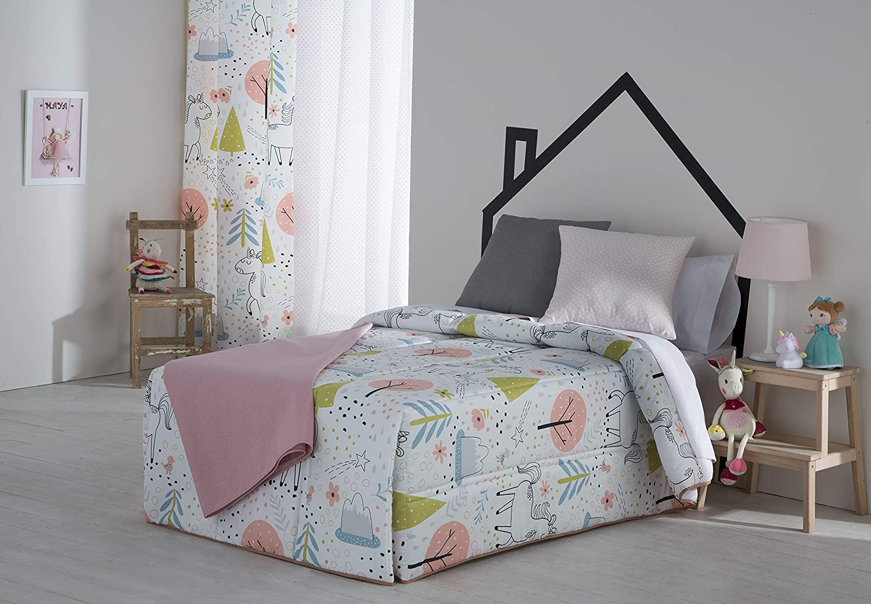 Sansa Color Gris Conforter Estrellas Cama 90