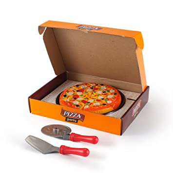Amazon.com: Velcro Cutting Supreme Pizza Food Party Toy Set for ...