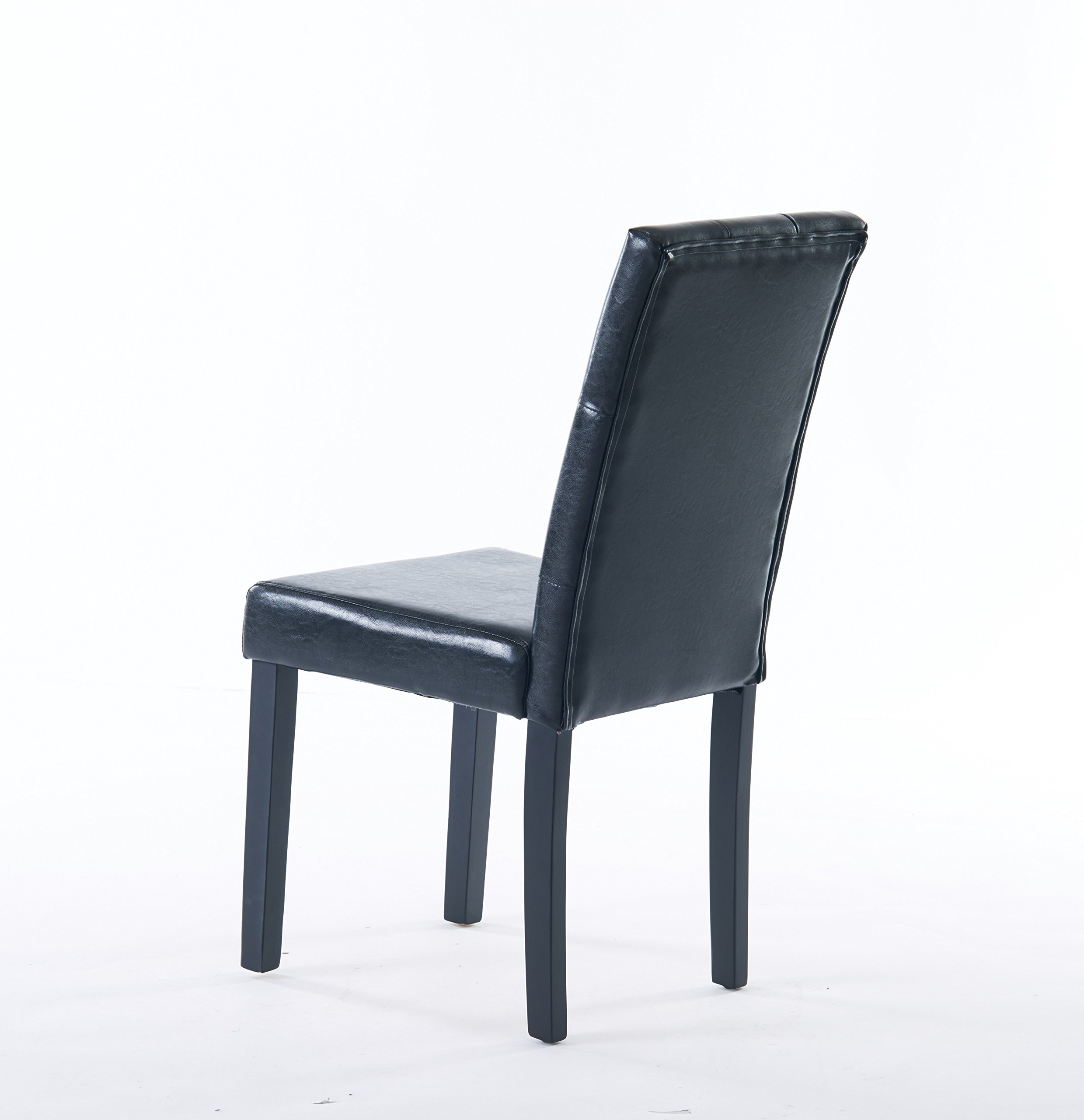 Comfortable Live New Modern Style Dining Chair in Home and Garden with Leather Set of 2(black) by Comfortable live (Image #5)