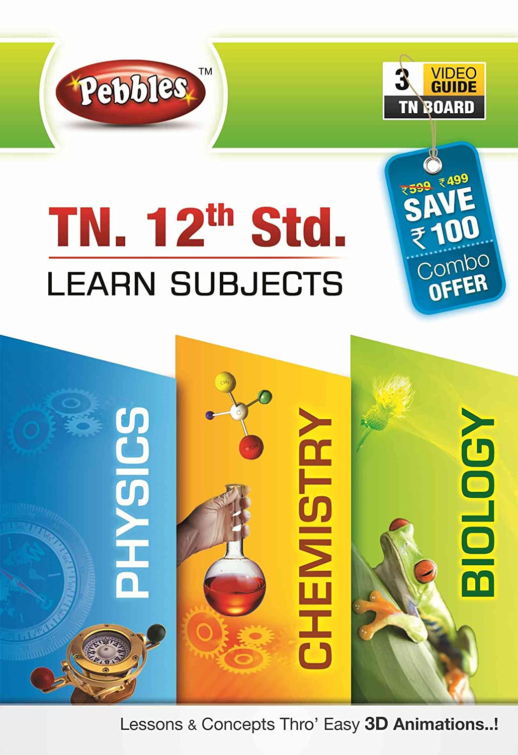 Pebbles Tn 12th Std - Physics, Chemistry And Biology Combo (DVD):  Amazon.in: Software