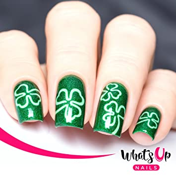 Amazon Whats Up Nails Shamrock Nail Stencils Stickers Vinyls