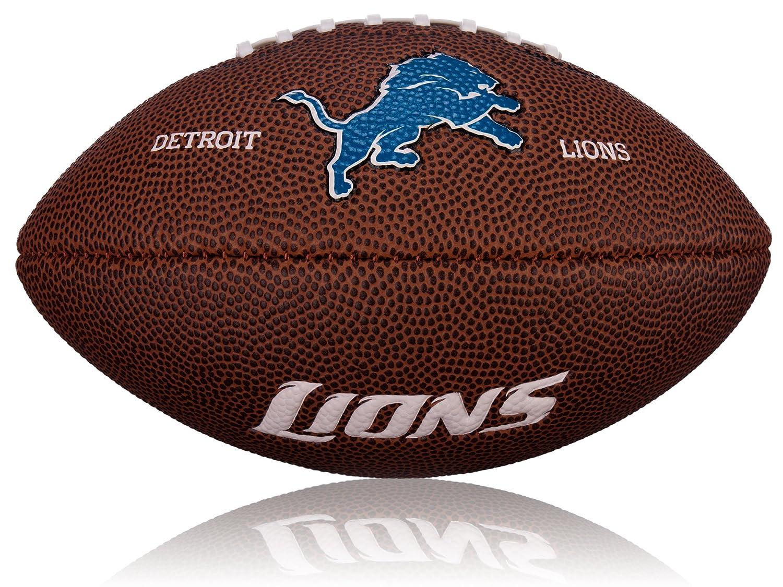 Wilson Football NFL Mini Detroit Lions Logo, Braun, 2, WL0206502042