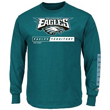 Philadelphia Eagles Majestic NFL principal receptor 2 manga larga camiseta para hombre, small: Amazon.es: Deportes y aire libre