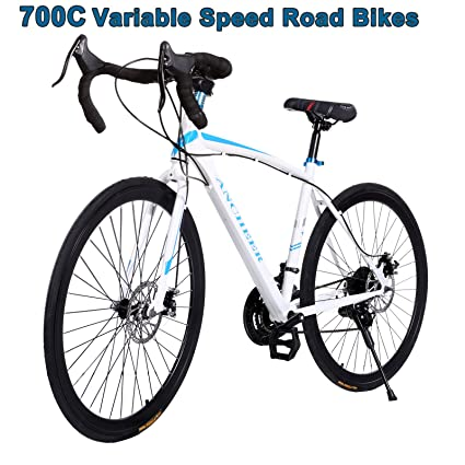 Upmik Road Bike 21 Sd 700c Hybrid Bicycle 26 Inch Wheels Disc Fixed Brake Gear Commuter