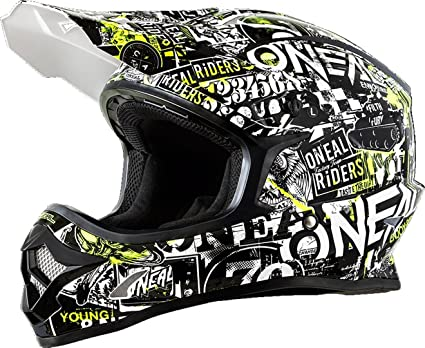 ONeal Mens Off-Road 3 SRS Attack Helmet (Black, Medium)
