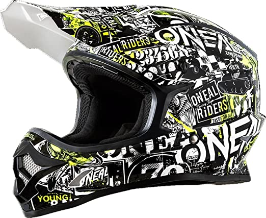 Amazon.com: ONeal Mens Off-Road 3 SRS Attack Helmet (Black, Large): Automotive