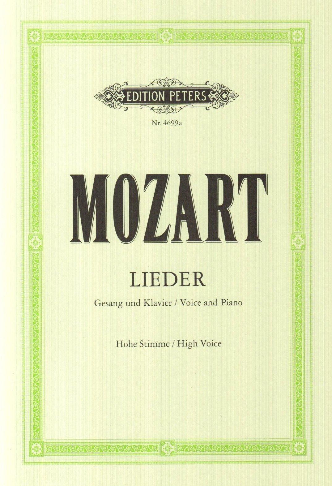 Lieder (50) - VxH/Po (Allemand) Broché – 1 janvier 2009 Wolfgang Amadeus Mozart Peters B00006M2KS Musikalien