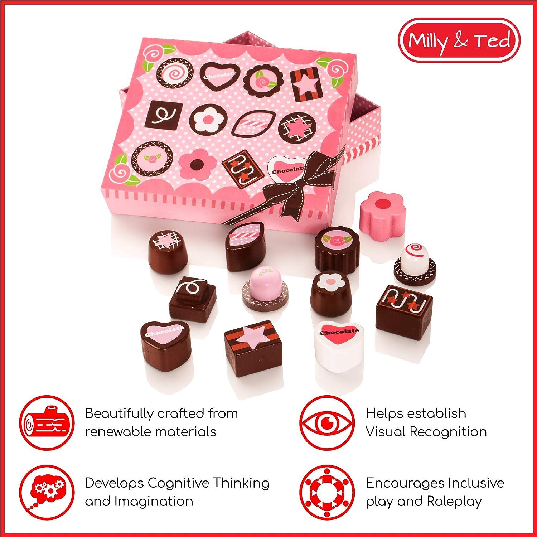 Jeu de Nourriture pour Enfants Milly /& Ted Wooden Chocolate Box