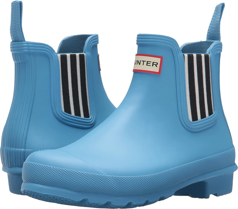 Hunters Boots Women's Original Garden Stripe Chelsea Boots B0758FGPQP 6 B(M) US|Forget Me Not