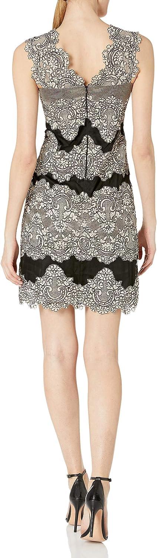 Tahari by Arthur S Levine Womens Sleeveless lace Sheath Dress