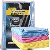 IgnitionLine 24 Pack Microfibre Car Cleaning Soft Cloths Buffing Wax Wash Polish Polishing Washing Detailing Towel Microfiber Duster - 38 x 28cm