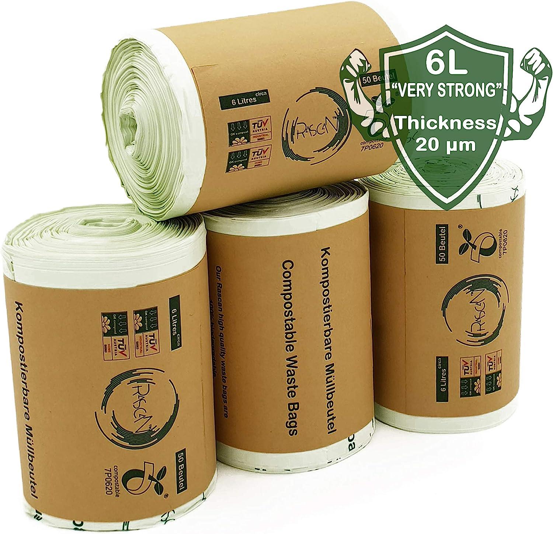 Rascan Bolsa Biodegradable (6 Litros x 200) Las Bolsas de Basura ...