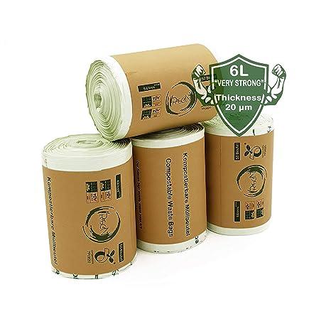 Rascan Bolsa Biodegradable (6 Litros x 200) Las Bolsas de Basura Perfectas Para su