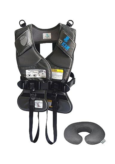 GOKIZ Car Seat Vest Charcoal Medium
