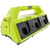 Ryobi P135 18V One+ 6 Port Lithium Ion Battery Supercharger (18V Batteries Not Included / Charger Only)