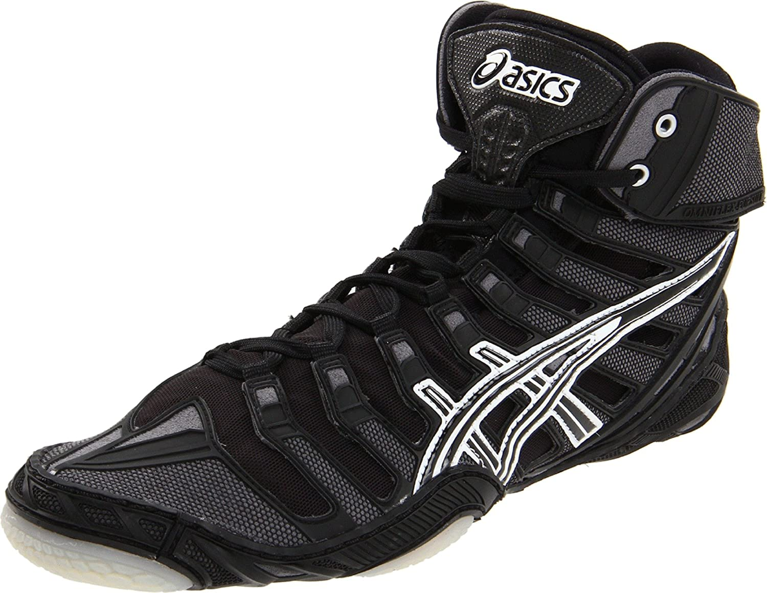 ASICS Omniflex Pursuit, White, 7.5 Mens Black/Silver/White 7 M US ASICS Footwear