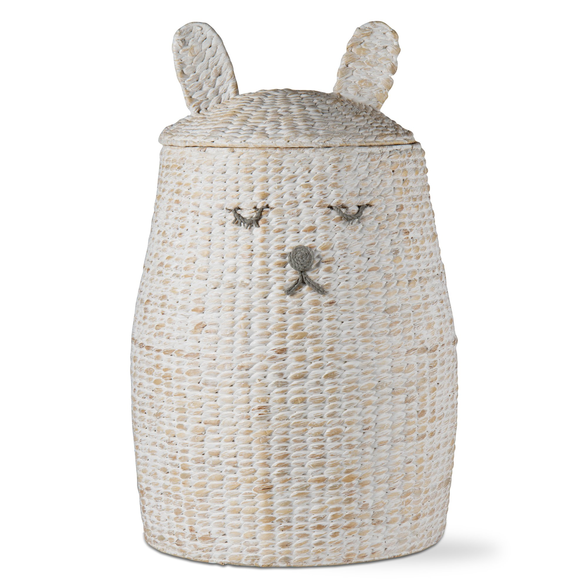 tag - Sleepy Bunny Hamper, Perfectly Designed for Your Child's Room or Nursery, White & Tan (28.75'' H x 18'' Dia.) by tag