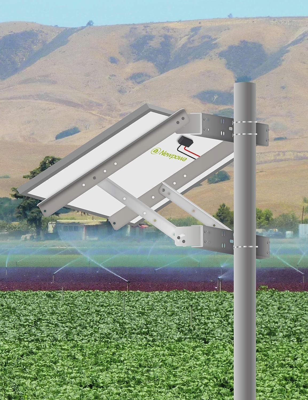 Newpowa - Soporte Universal para Panel Solar (Brazo único y Montaje en Pared): Amazon.es: Jardín